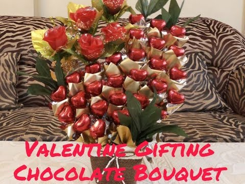 How To Make Valentine Chocolate Bouquet Valentine Gifting Red