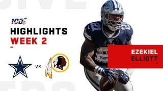 Ezekiel Elliott Runs Over Washington for 111 Yds & 1 TD | NFL 2019 Highlights