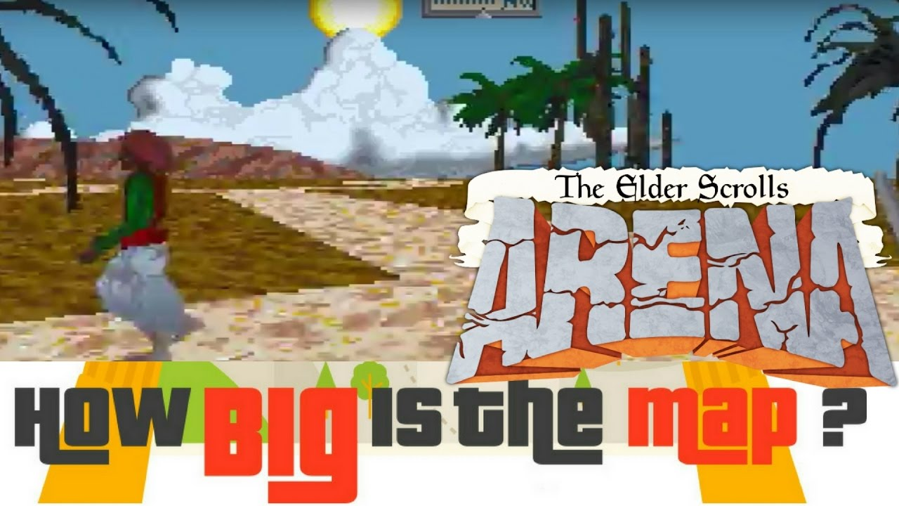 HOW BIG IS THE MAP in The Elder Scrolls: Arena? Walk Across the Map