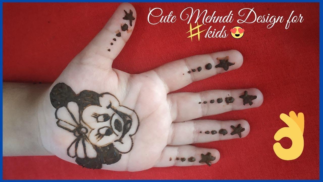 cute easy mehndi designs for kids