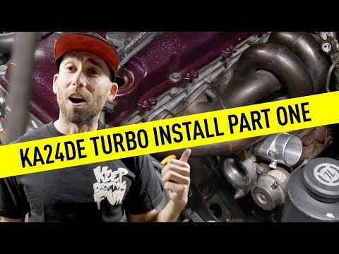 KA24DE Turbo Install Part One - Street Project s14