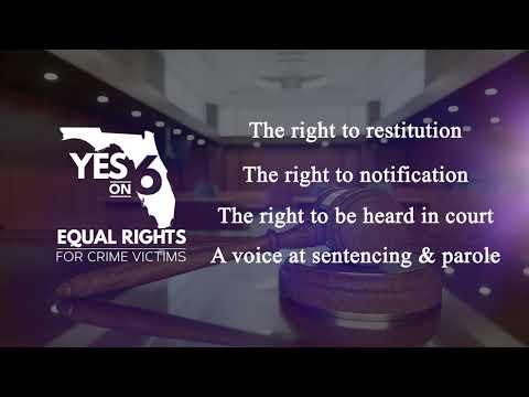 Florida Amendment 6, Marsy's Law Crime Victims Rights, Judicial