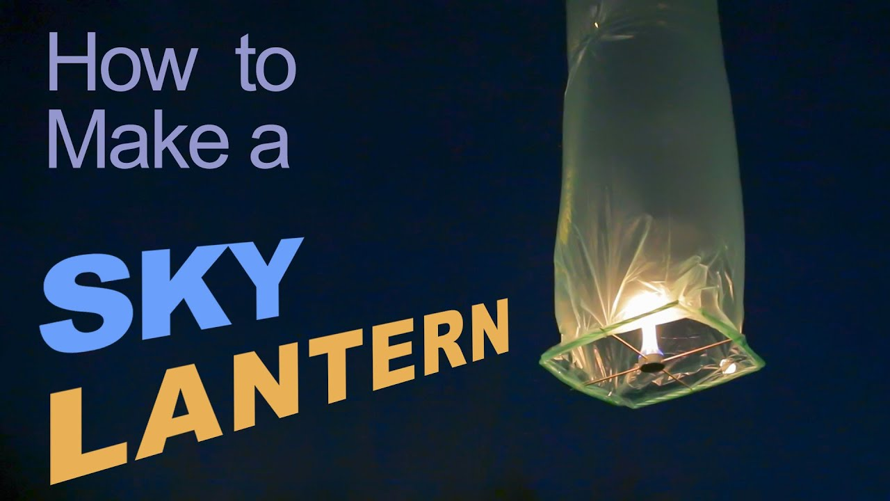 How to Make a Sky Lantern - YouTube for Diwali Sky Lamp Making  570bof