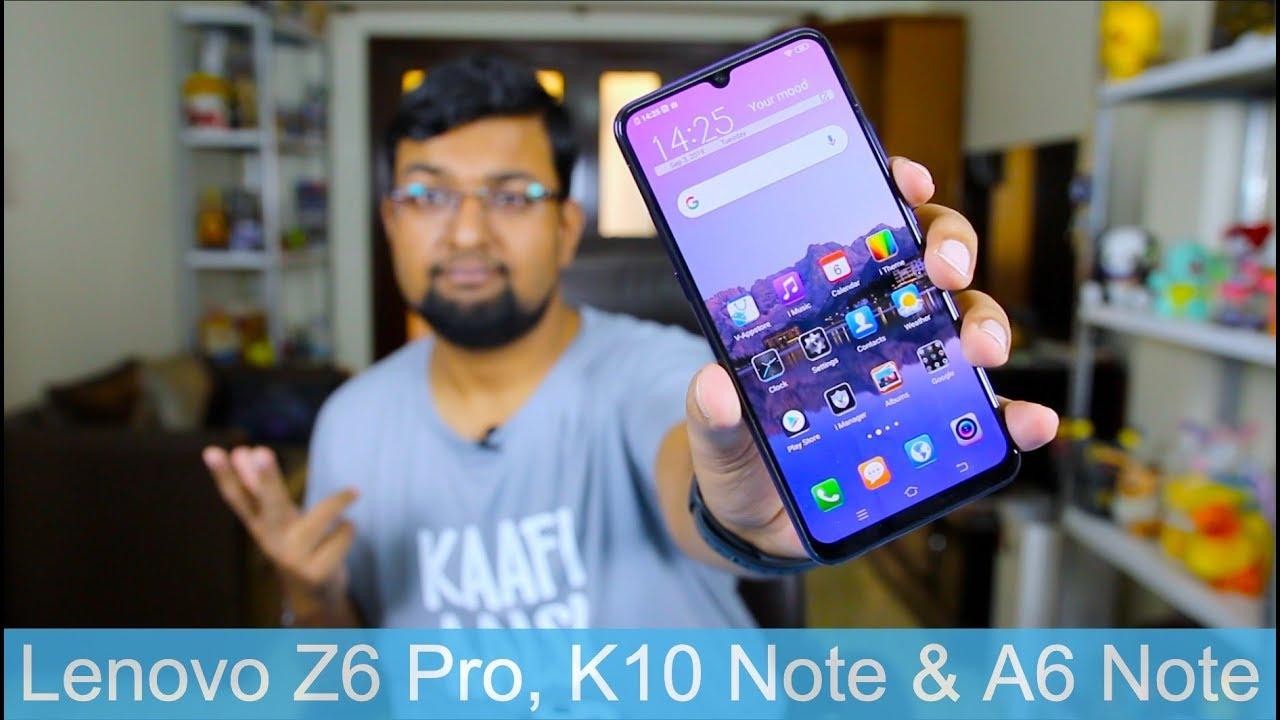 Lenovo Z6 Pro, K10 Note & A6 Note India Launch & Specs ⚡ ⚡⚡ Jaaniye Sab Kuch