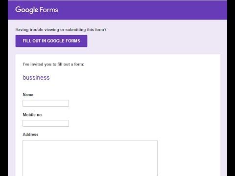 Create Google Form in Telugu - YouTube