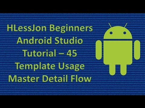 Beginners Android Studio Tutorial – 45 Template Usage Master Detail Flow