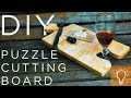 DIY Wooden Puzzle Cutting Board