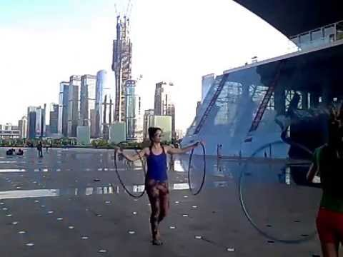 hula hoop jam at the civic center, shenzhen
