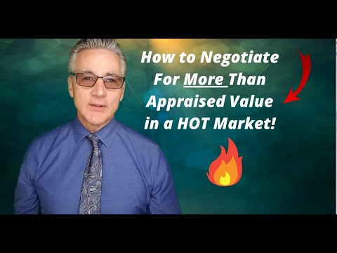 How To Negotiate Above Appraisal Offers