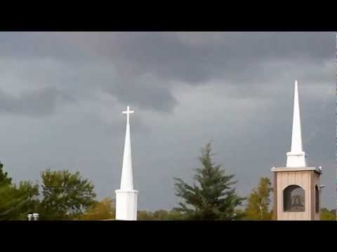 Lightning over the Church in Haileyville