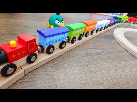 Поезд Деревянная Железная дорога Самый длинный Поезд Развивающие Видео для детей про машинки игрушки
