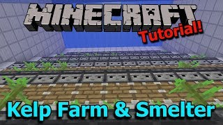 Minecraft 1.13: Automatic Kelp Farm and Efficient Dried Kelp Block Smelter [Tutorial]