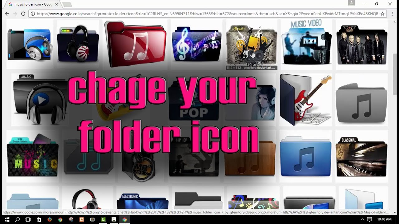 how to change folder icon to picture windows 10