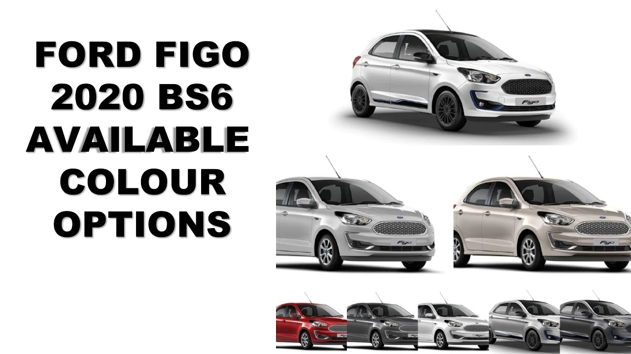 FORD FIGO & FIGO Titanium BLU 2020 BS6 Available colour options.