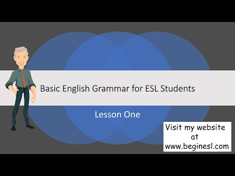 Basic English Grammar Lesson1