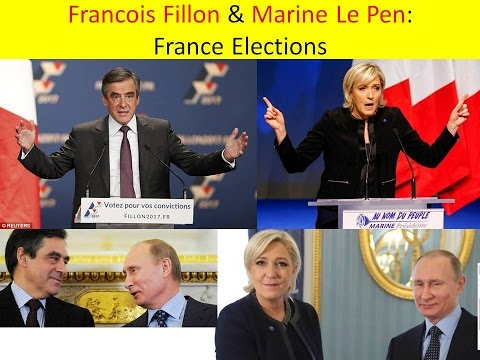 Francois Fillon and Marine Le Pen : FRANCE : Elections