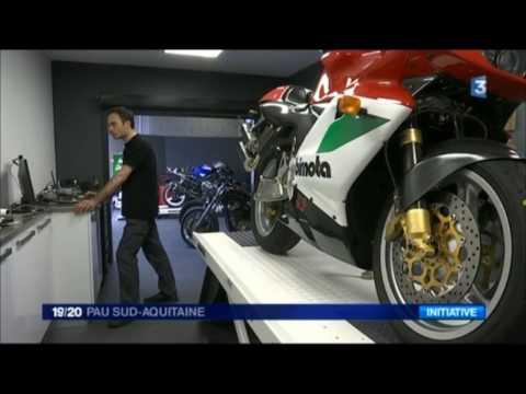Reportage Web Atelier Moto par France3