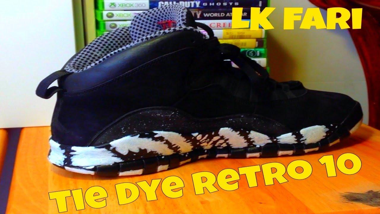 Custom Jordans - Tie Dye Retro 10 - YouTube 684127648