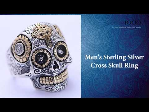 Top Rated Men's Biker Rings & Sterling Silver Jewelry