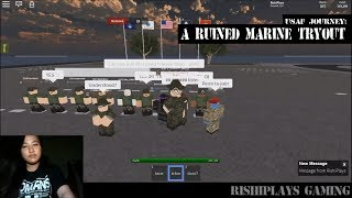 USAF Roblox Journey: A ruined Marine Tryout | #RishiPlaysJourney #Disaster