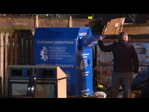 Woman dies stuck in Toronto clothing donation bin