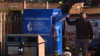 Woman dies stuck in Toronto clothing donation bin