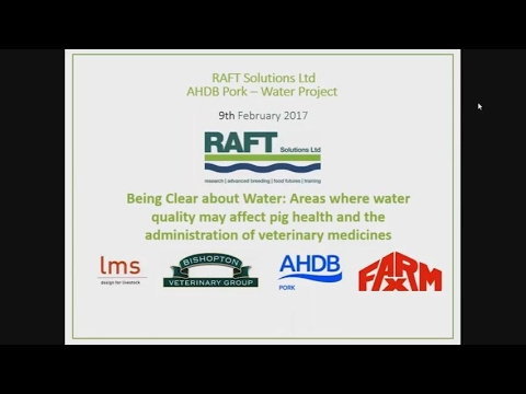 Webinar: Being Clear About Water - Correcting poor water provision on farm