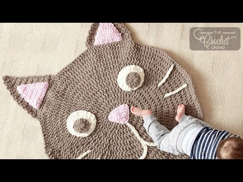 How to Crochet a Rug: Cat Crochet Play Rug