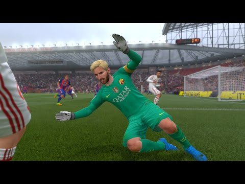 FIFA 17 - LIONEL MESSI PLAYING GOALKEEPER!