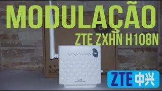 Alterar a modulacao do modem ZTE ZXHN H108N V2.5 - Resolvendo problema de velocidade