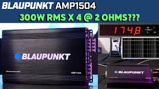Blaupunkt AMP1504 Car Audio 4-Channel Amp Amplifier 1500 Watts Max Peak Power