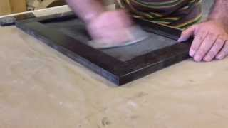 Cabinet Door Finishing — Sanding the Sealer (a visual demo of finish sanding technique)