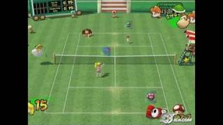 Mario Power Tennis GameCube Gameplay - Donkey Kong in the