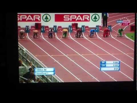 100m Men Semifinal 1 European Athletics Championships Helsinki