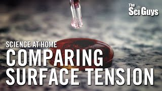 The Sci Guys: Science at Home - SE3 - EP7: Comparing Surface Tension - Penny Surface Tension