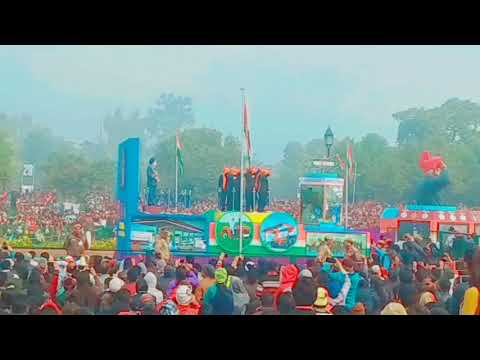 2018 Excellent Parade by Mysore, gorkha,regiment many more crowd are excited Republic day india gate