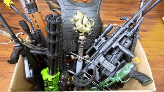 Giant Box of Toy Guns and Weapons Realistic Automatic Rifles and Various Weapons