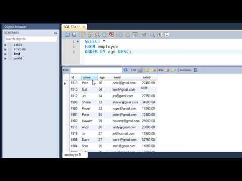 SQL Tutorial - 25: The ORDER BY Clause