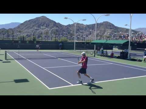 Kei Nishikori - Sam Querrey Practice at Indian Wells 2017