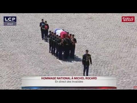 Hommage solennel national à Michel Rocard en direct des Invalides