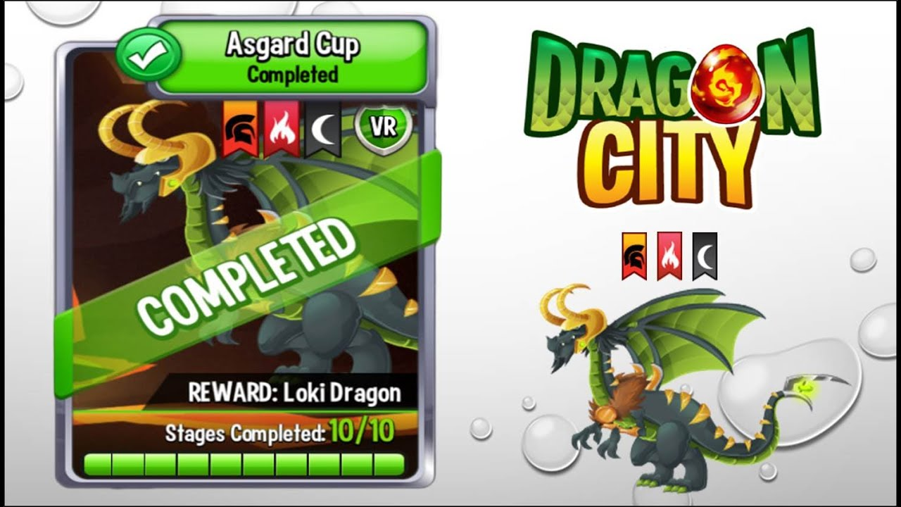 Dragon City - Loki Dragon [Asgard Cup | Full Unlocked]