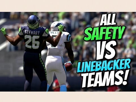 TEAM OF LINEBACKERS vs TEAM OF SAFETIES!! Madden 17 Challenge