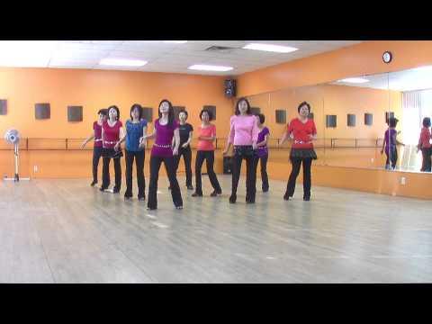 Bachata Slide - Line Dance (Dance & Teach in English & 中文)