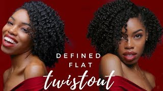 BEST Flat Twistout Routine | Definition, Shine, Softness!