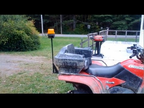 Diy How To Attach A Strobe Light To Your Atv For Snow