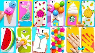 10 DIY STRESS RELIEVER PHONE CASES | Easy & Cute Phone Projects & iPhone Hacks