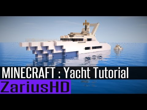 Minecraft Yacht Tutorial - How to Build : Tranquility Yacht.