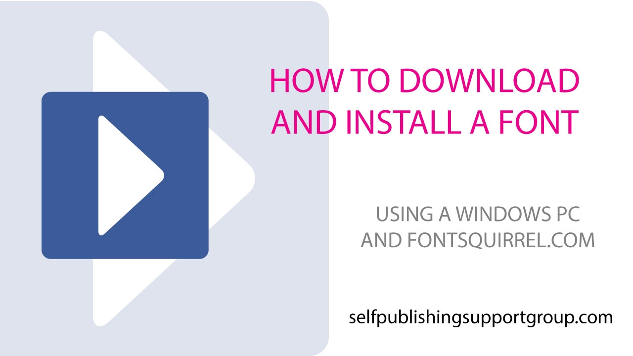 How To Download And Install A Font From Font Squirrel Windows Pc