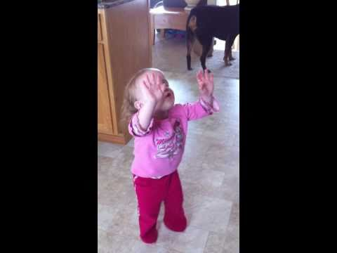 2 year old praising God with Chris Tomlin Our God