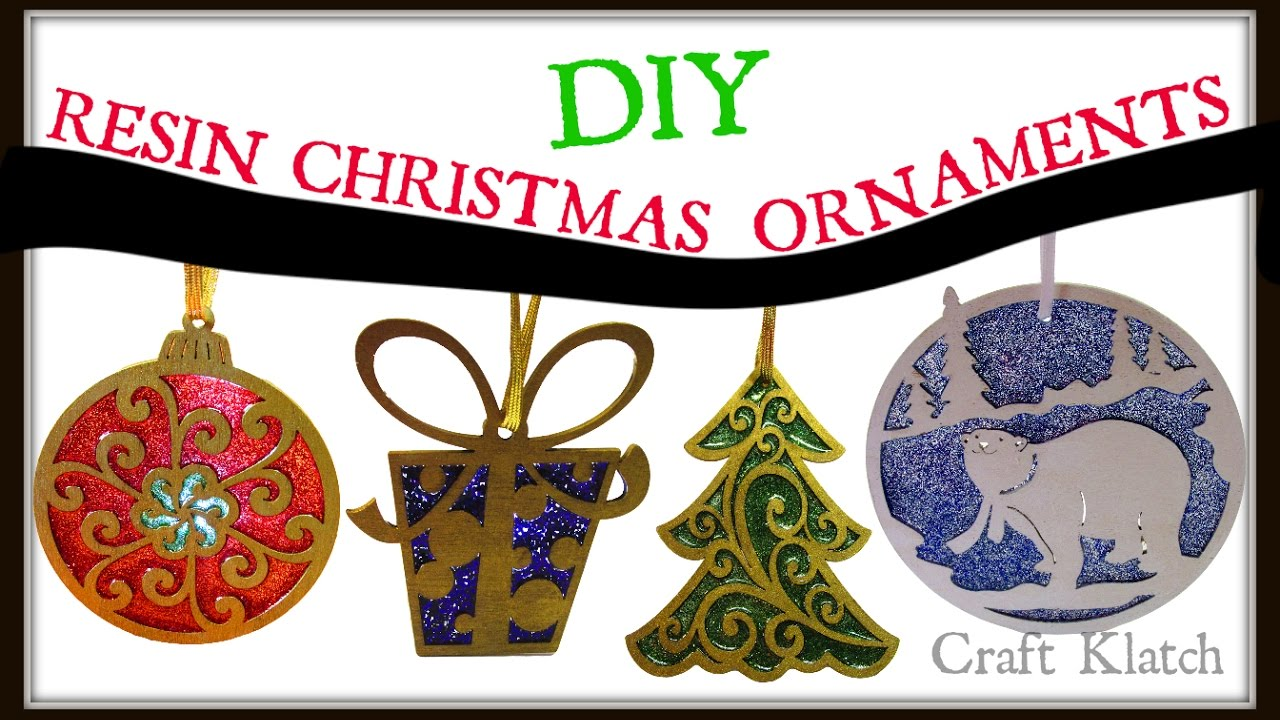 Resin Christmas Ornaments.Wood Resin And Glitter Christmas Ornaments Diy Project Craft Klatch How To